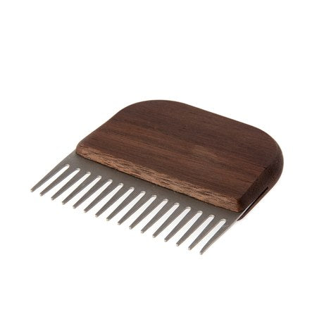 Beard Comb Made of Oil-treated Walnut and Stainless Steel