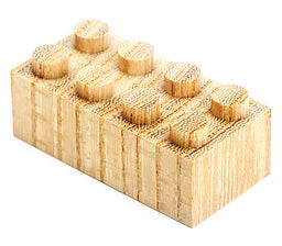 Wooden Bricks 34pcs