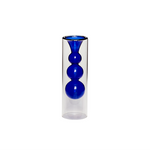 Blue Bubbles Glass Vase