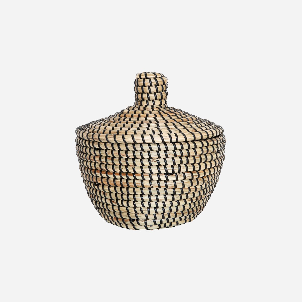 Seagrass Woven Storage Basket with Lid