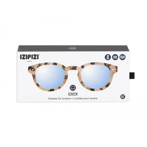 Screen Protection Glasses  - #C Shape Light Tortoise