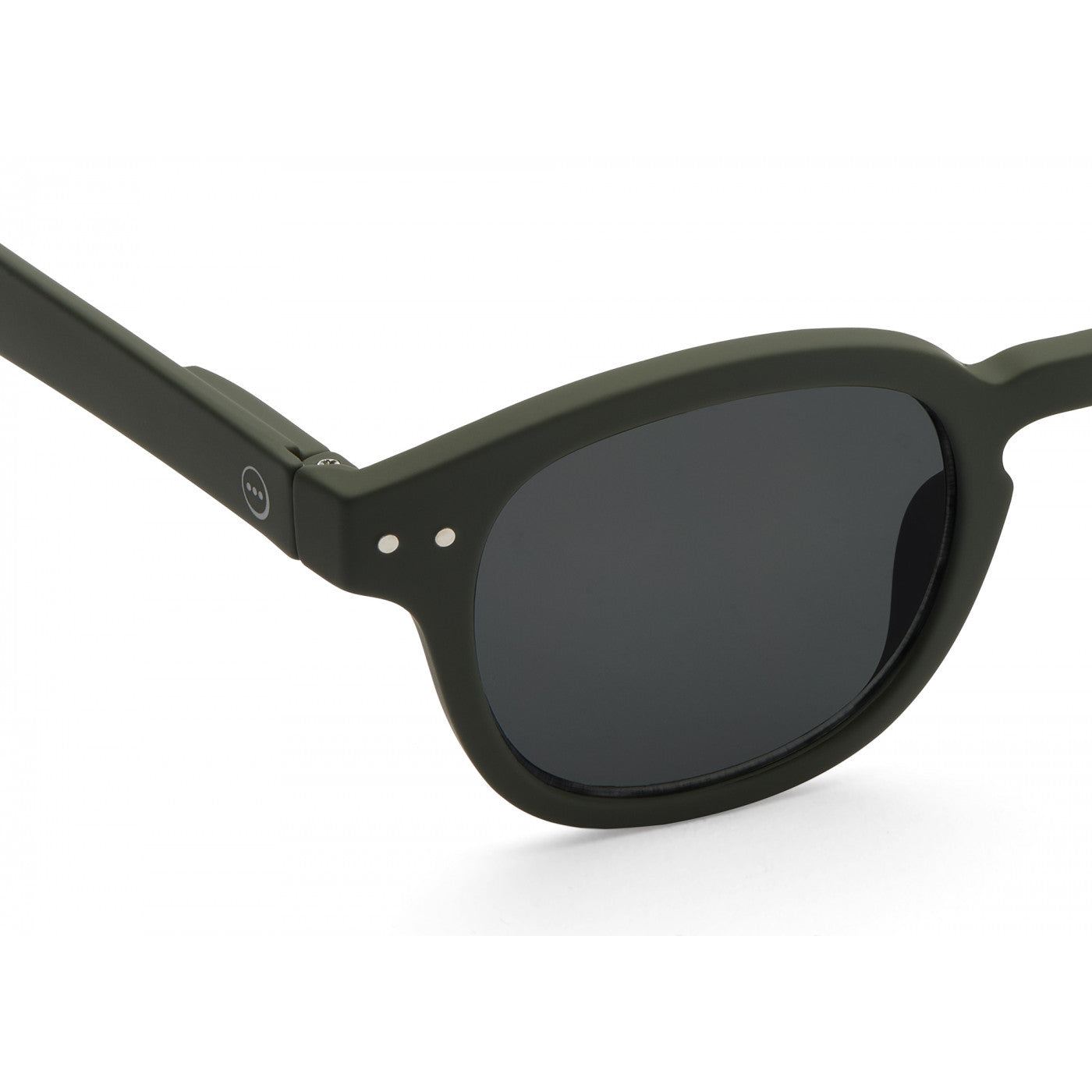 Sunglasses  - #C Shape Khaki Green Frame