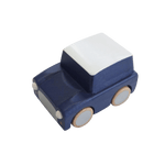 Classic Wooden Wind Up Car in Navy