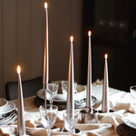 Set of Two Matte Tapered Candles in Champagne(Colour No. 94) - 32cm Long