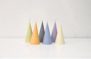 Cone Shape Candle in Purple