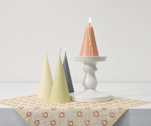 Cone Shape Candle in Grey