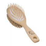 Wooden Dog Brush with Bristle and Wooden Pins