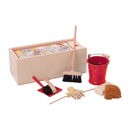 Doll House Cleaning Set in Red