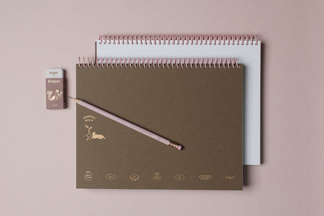 Spiral Binding Sketchbook with 180 gsm White Paper
