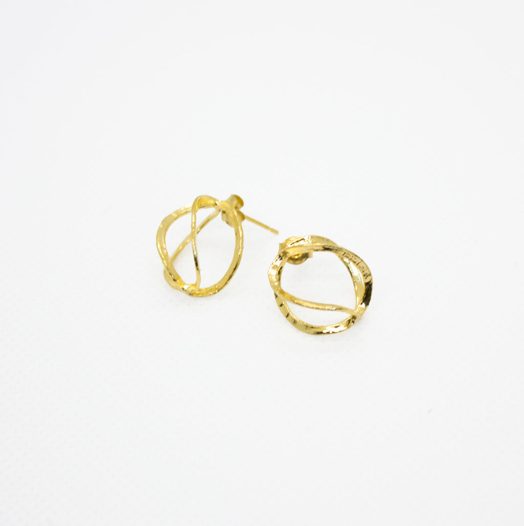 Earrings with Cage Shapes