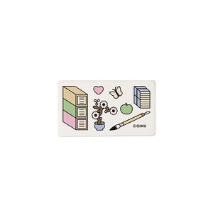 Square Eraser with Scholars Accoutrements Print