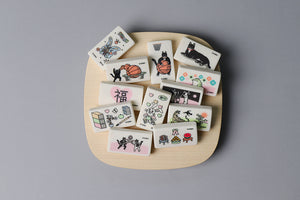 Square Eraser with Cat Match Print