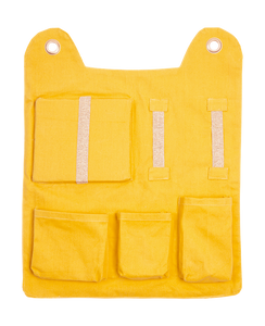 Honey Yellow Wall Pocket with Bear Ears