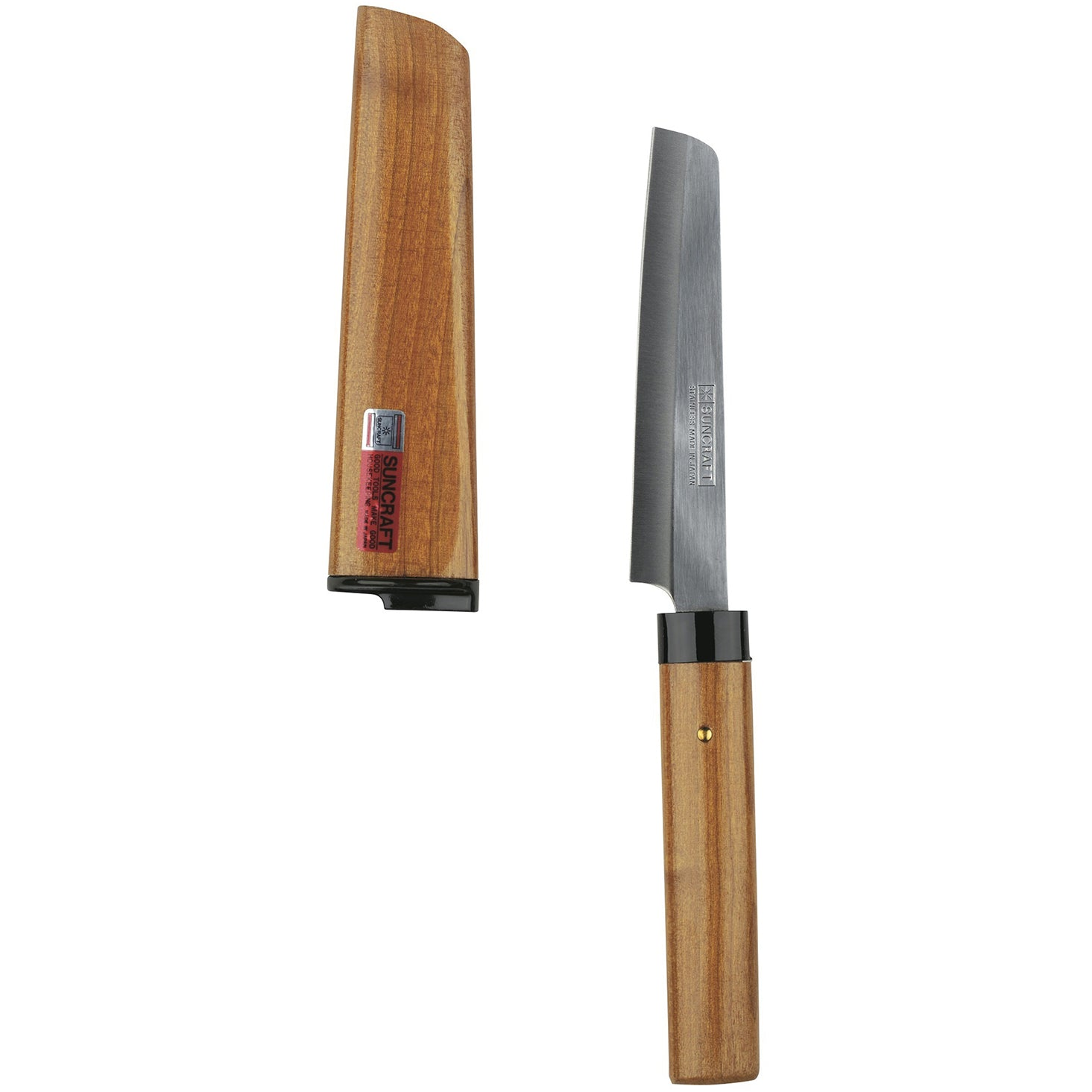 Fruit Knife with Cherry Wood Handle and Scabbard