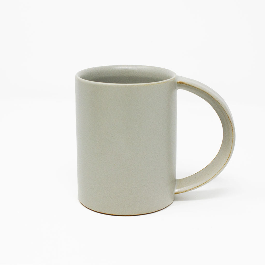 Oblong Tall Mug in Light Grey