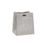 Square Grey Felt Laundry Basket Medium Size