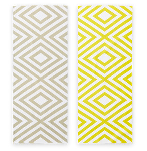 Cotton Double Sided Rhombus Pattern Japanese Towel