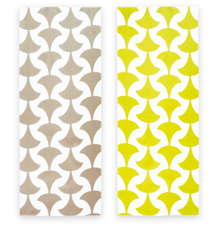 Cotton Double Sided Ginkgo Tree Leaves Pattern Japanese Towel