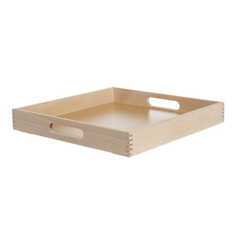 Square Birch Tray with Handles