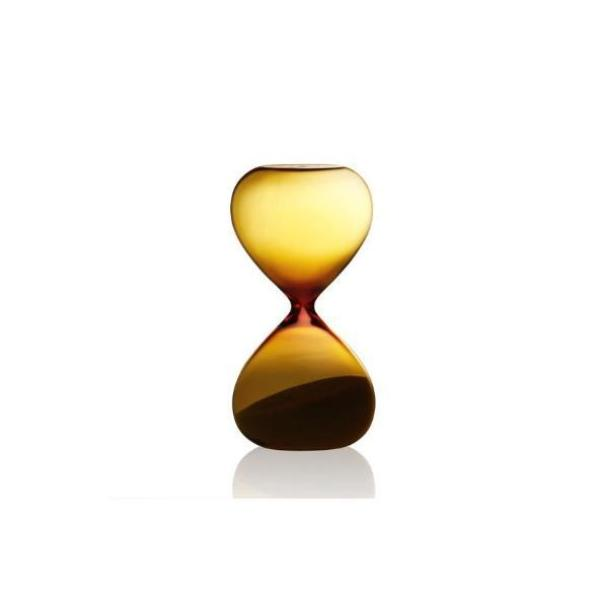 Sand Glass in Amber with White Sand - 5 mins Egg Timer
