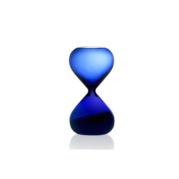 Sand Glass in Blue with White Sand - 5 mins Egg Timer