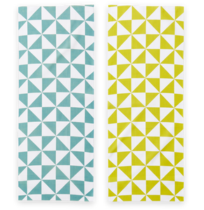 Cotton Double Sided Pinwheel Pattern Japanese Towel