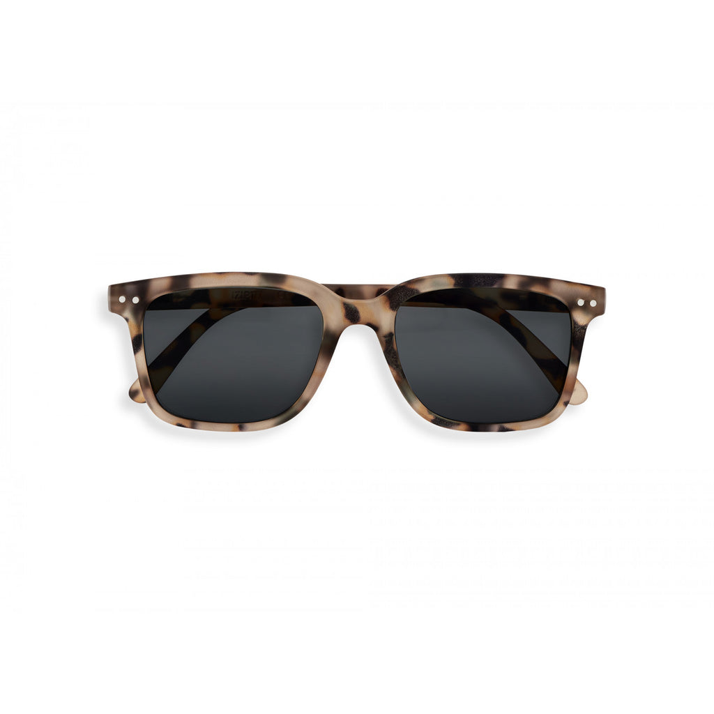 Sunglasses  - #L Shape Light Tortoise Frame