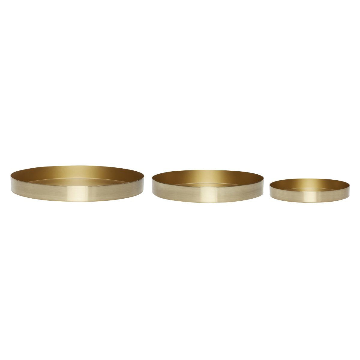 Brass Round Serving Tray Small