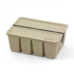 Recycled Pulp Stackable Box / Case in Beige