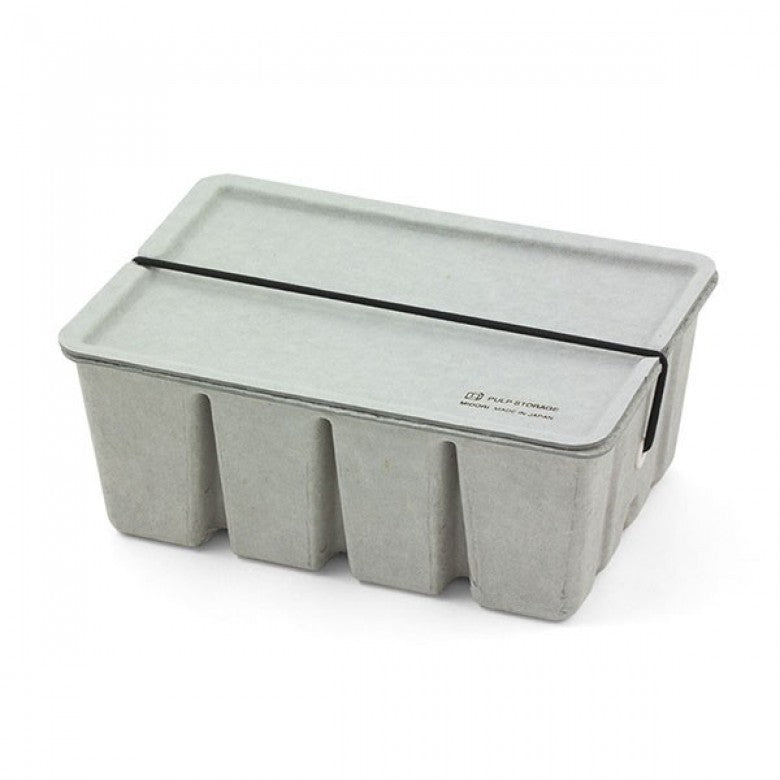 Recycled Pulp Stackable Box / Case in Grey
