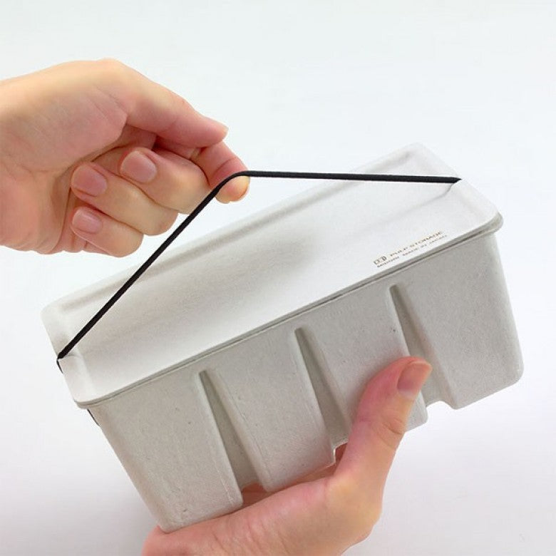 Recycled Pulp Stackable Box / Case in White