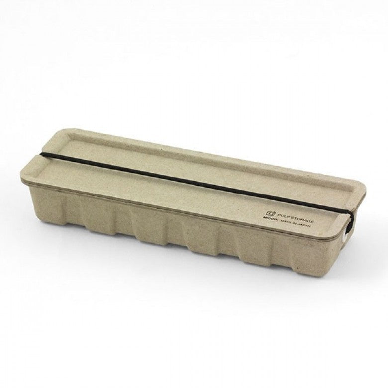 Recycled Pulp Pen Case in Beige