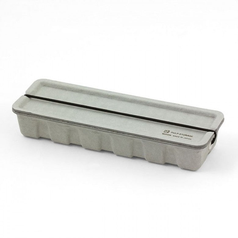 Recycled Pulp Pen Case in Grey