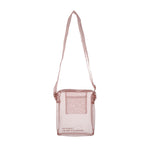 Sheer Silk(No-Bang) Mini Shoulder Bag in Pink
