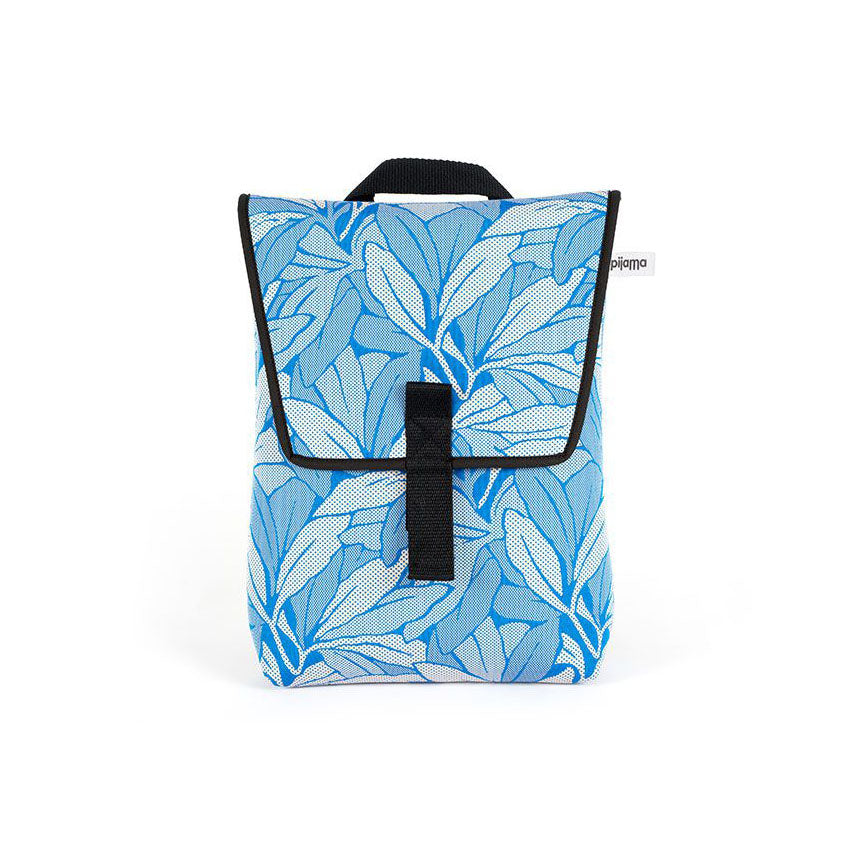"Mini Backpack for 13"" Laptop in Blue Flower Print"