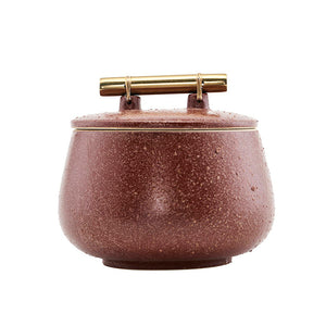 Diva Burnt Orange Storage Pot with Lid Medium