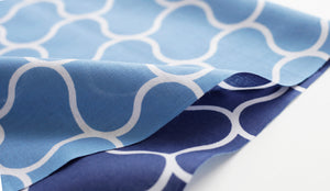 Cotton Double Sided Sea Wave Pattern Japanese Towel