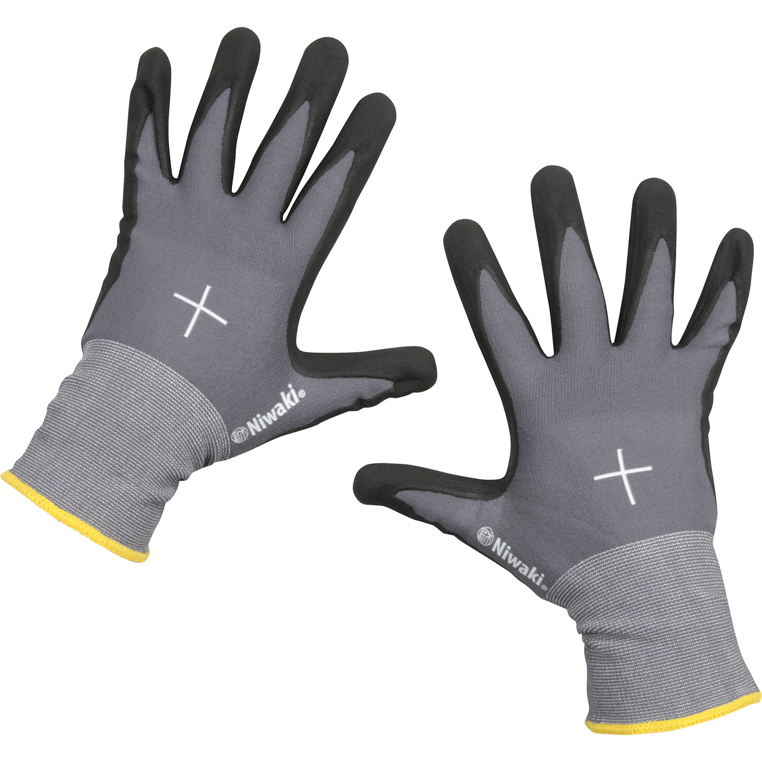 Gardening Gloves - Extra Large with Yellow Cuff