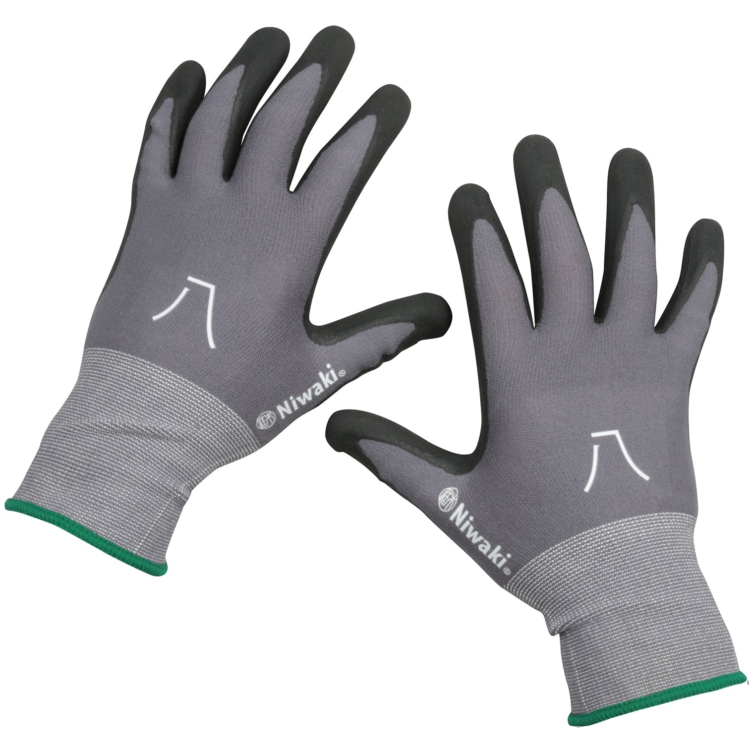 Gardening Gloves - Medium with Green Cuff