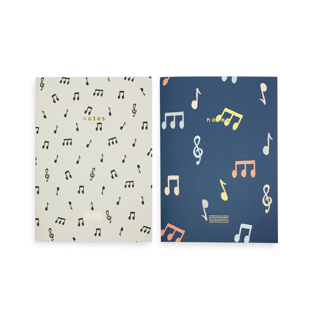 Notes Notebook Set of 2 - Ruled & Plain