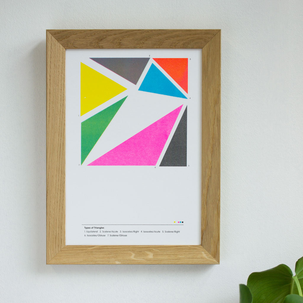 Types of Triangles Poster Unframed