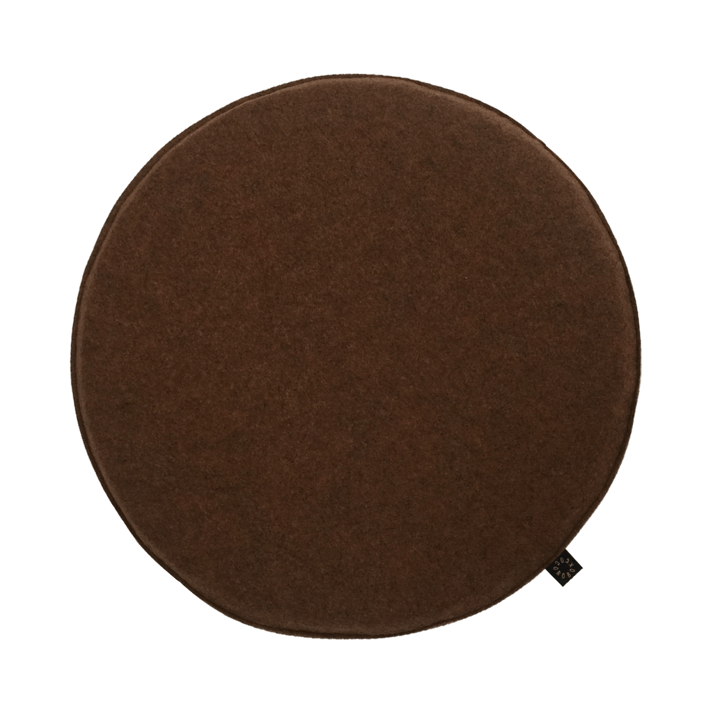 Cocorobox Circle Felt Cushion in Brown