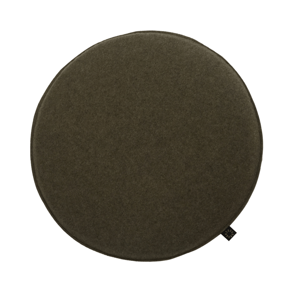 Cocorobox Circle Felt Cushion in Khaki