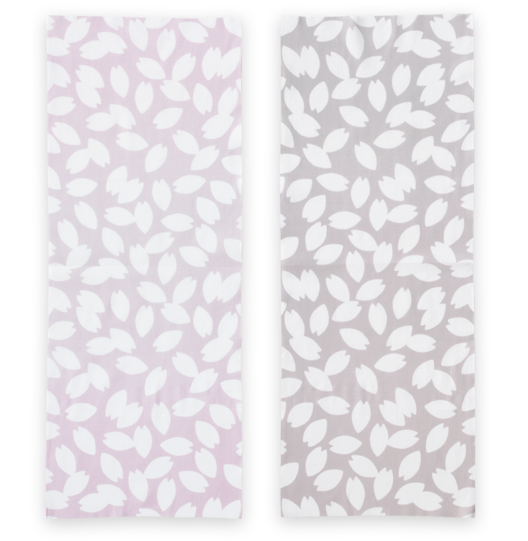 Hirali Cotton Double Sided Cherry Blossoms Pattern Japanese Towel