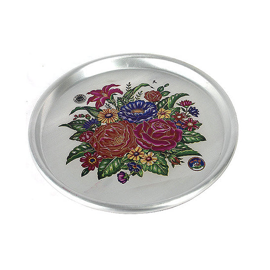 33cm Tin Tray with Flowers Print