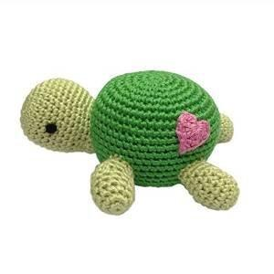 Hand Crocheted Rattle - Tully the Turtle