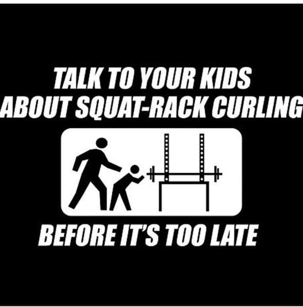 NO SQUAT RACK CURLING