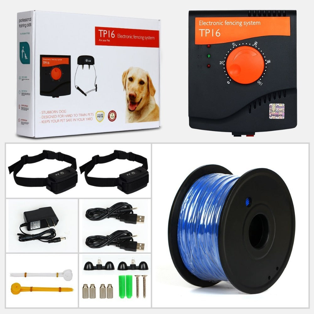 Invisible Pet Electric System - Fence Rechargeable Waterproof Shock Adjustable Dog Training Collar