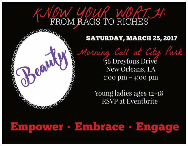 Know Your Worth: From Rags to Riches Young Women's Event!