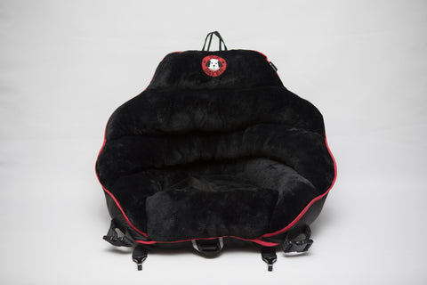 Black Plush w / Black Back Original PupSaver (للكلاب حتى 30 رطل)